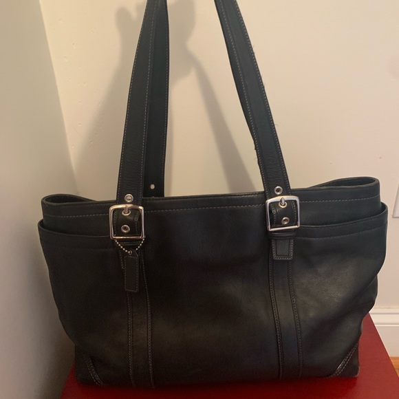 Coach Handbags - Coach black leather tote